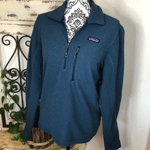 Patagonia blue 1/2 zip pullover sweater